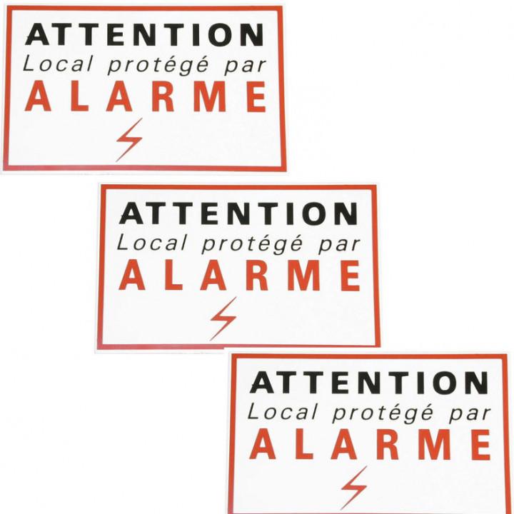 3 aufkleber klebeetiketten meldealarm sicherheits autocolant abschreckung schutz
