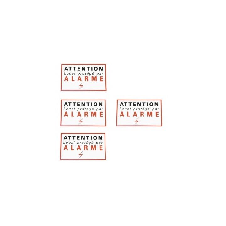 4 alarmas sticker etiquetas adhesivas de señalización de protección de disuasión autocolant seguridad