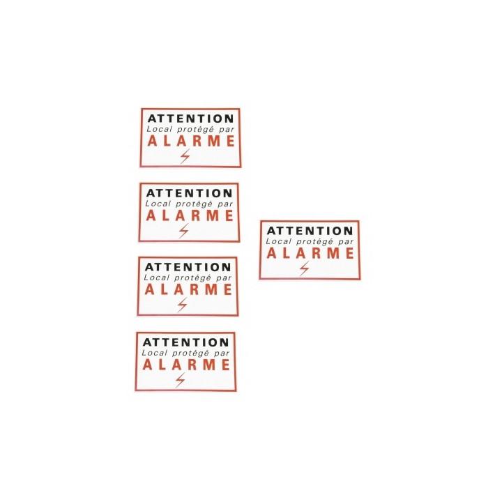 5 adhesive labels signaling security alarm sticker autocolant deterrent protection