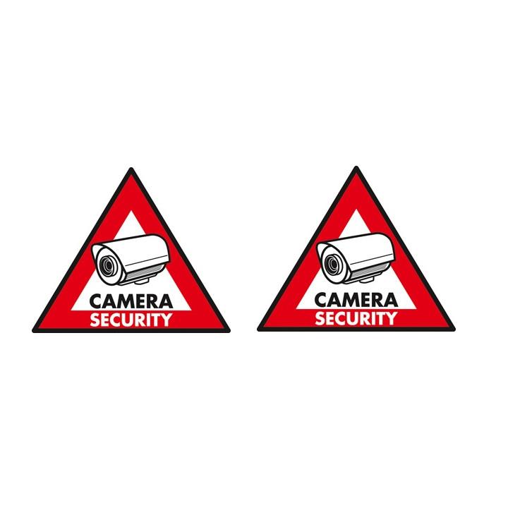 2 adhesive labels deterrent panel sticker st cs sec security camera monitoring sticker