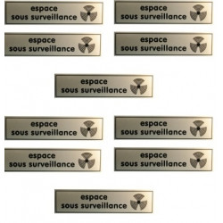 10 etiquettes signalisation affichage panneau sticker espace video surveillance autocollant signale