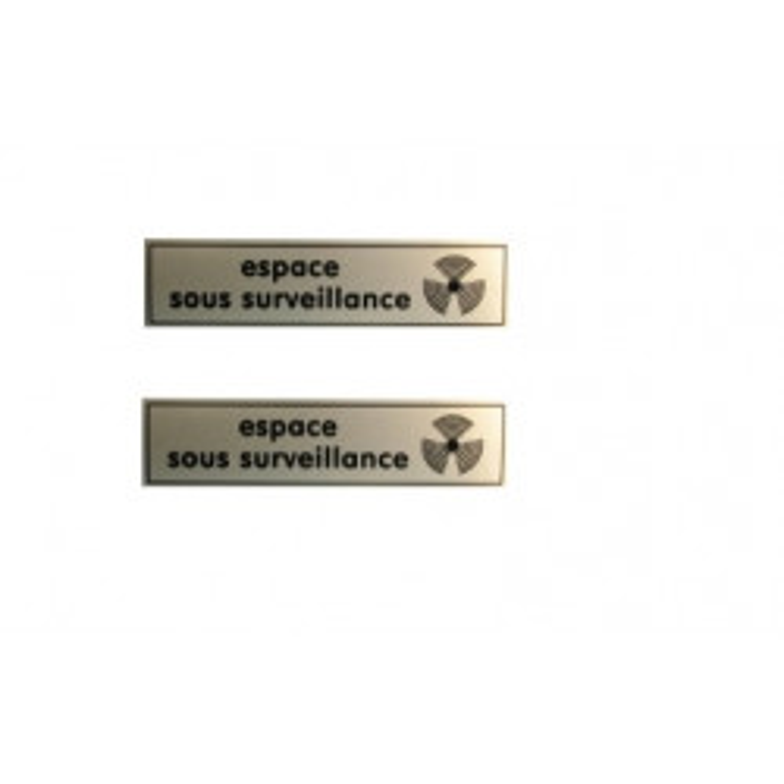 2 etiquetas de señalización de los informes de seguimiento de vídeo sticker sticker cartelera