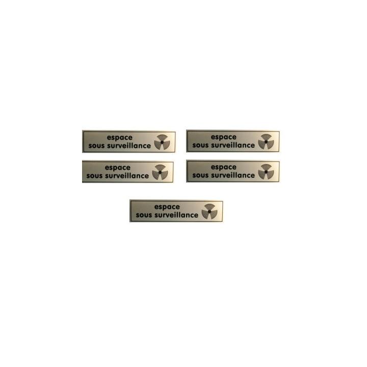 5 etiquettes signalisation affichage panneau sticker espace video surveillance autocollant signale