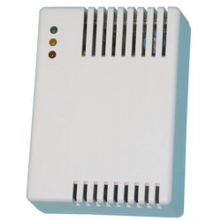 Detector gas detector + buzzer + no nc relay, 220vac fire alarm detection gas leak detector detects mixtures air combustible gas