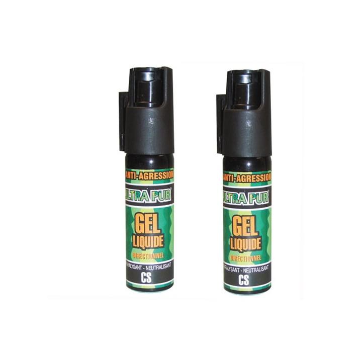 2 gel aerosol defense stun gun cs 100 25ml spray tear gas bomb security policy