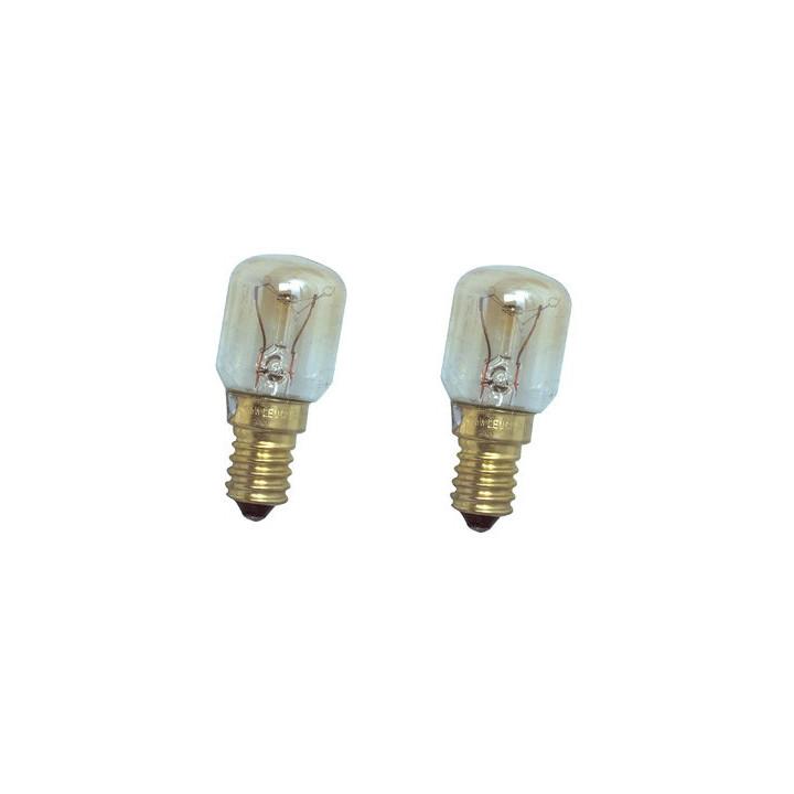 2 tube bulb e14 15w 220v t22 poirette pilot w5-30601 lamp o1 lumiere oven fridge freezer 230