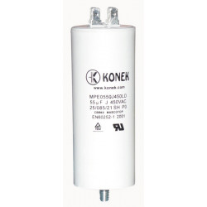 Condensateur 55mf 55uf 55 mf micro farad 450v 50/60 hz condo demarrage moteur cosse