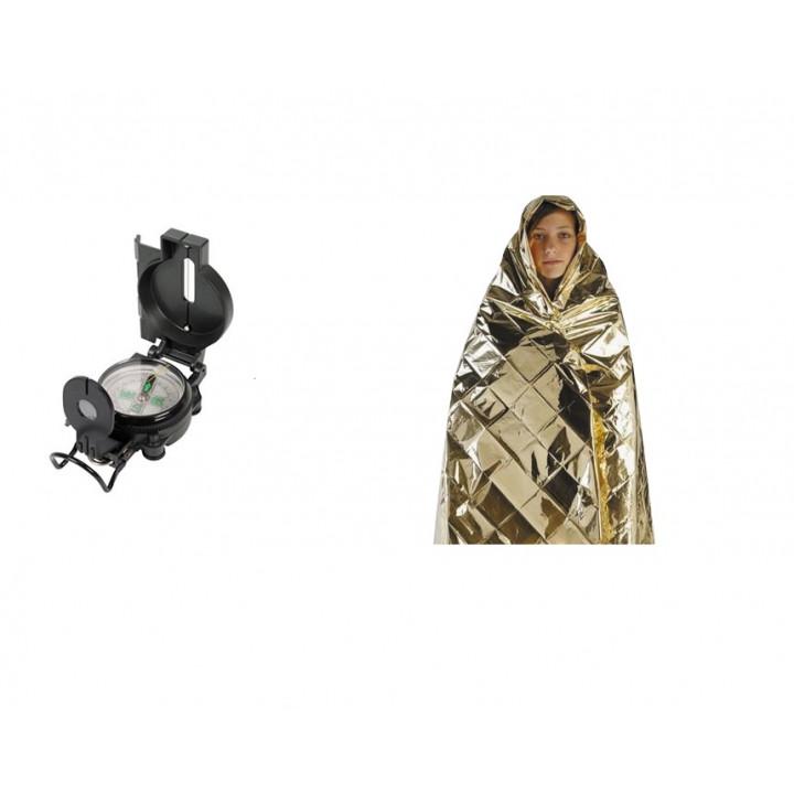 Kompass mit lupe faltbar fur militare doppel zurechtfindung orientierungslaufkompass und blanket schutz kalten hitze oder feucht