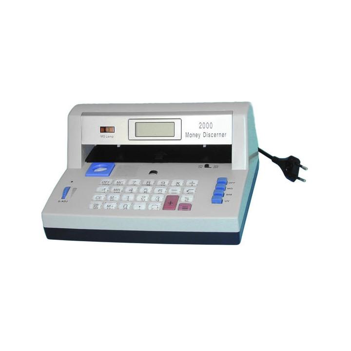 Detecteur uv sonore faux billets banque calculatrice detection dp-2000