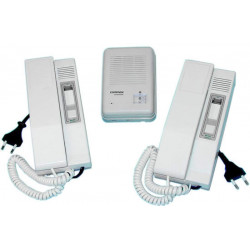 Pack portier phonique avec 2 combines interphone villa habitation packs portiers phoniques