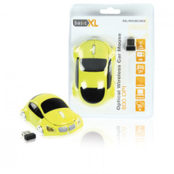 Wireless optical mouse 800 dpi yellow car usb bxl-mousecar20