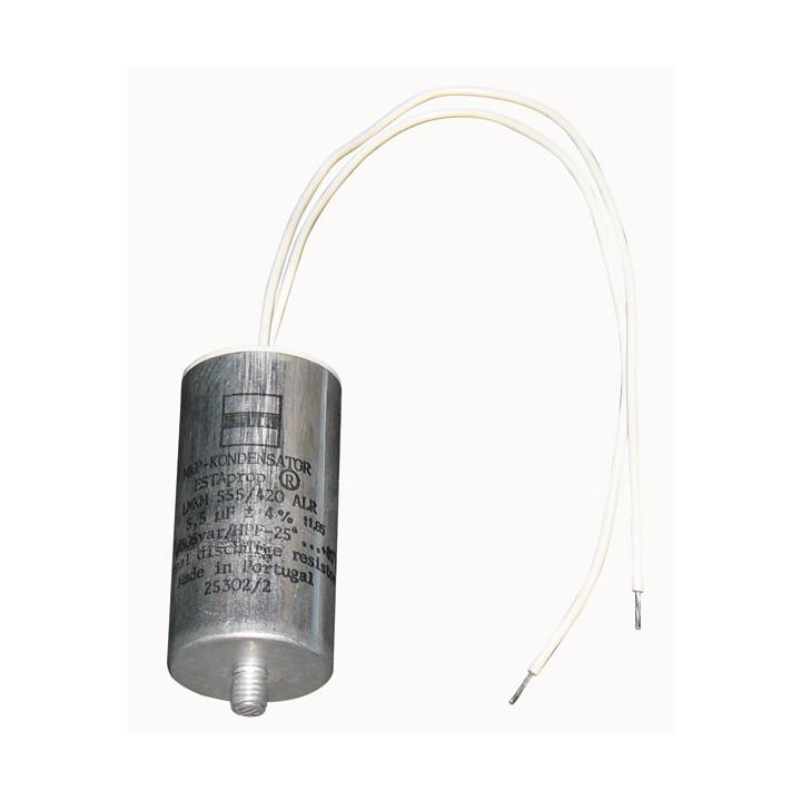 Condensateur electrique cbb60 fil 5.5mf 5.5 mf micro farad 400v 450v 500v moteur cddem420v5mf5f