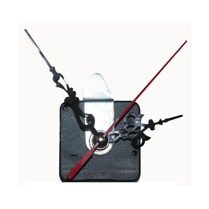 Mecanisme horloge quartz axe 8mm + support fixation murale