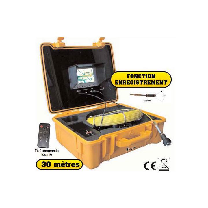 Grabador de vídeo cámara de vídeo um330st pantalla a color de 30 m de tubería conducto de tubo de inspección endoscopio desobstr