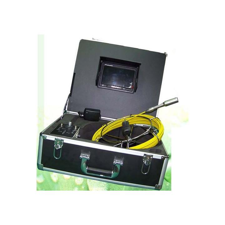 Cámara de vídeo en color de inspección de tuberías 30m usb llevó desbloqueo endoscopio tubo tec-z710