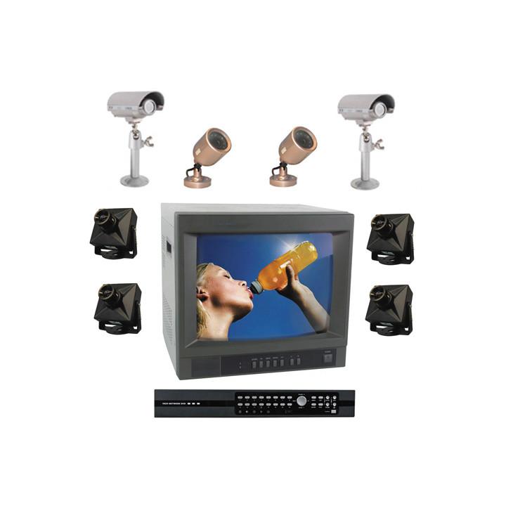 Kit video multiplexor grabador numerico 9 camaras color extensible a 16 camaras