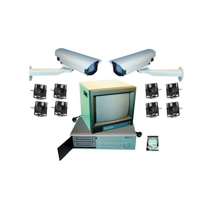 Kit video multiplexor grabador numerico 9 camaras color extensible a 16 camaras web