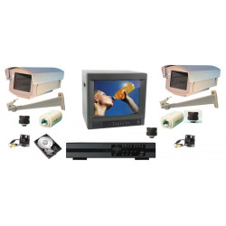 Video surveillance pack 4 colour cameras digital time lapse recorder video surveilance web