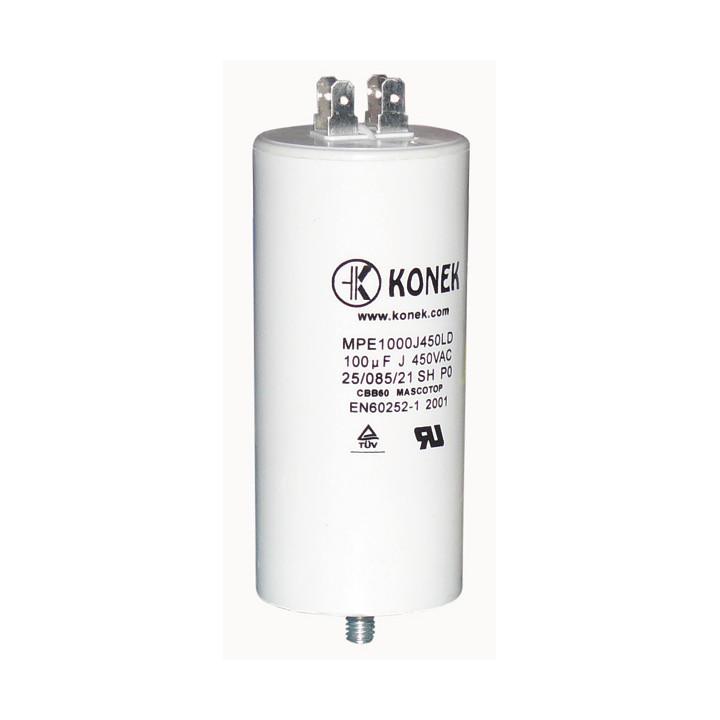 Condensador 100 mf micro farad 450v 50 60 hz condensador de arranque motor universal a borne am w1 11008