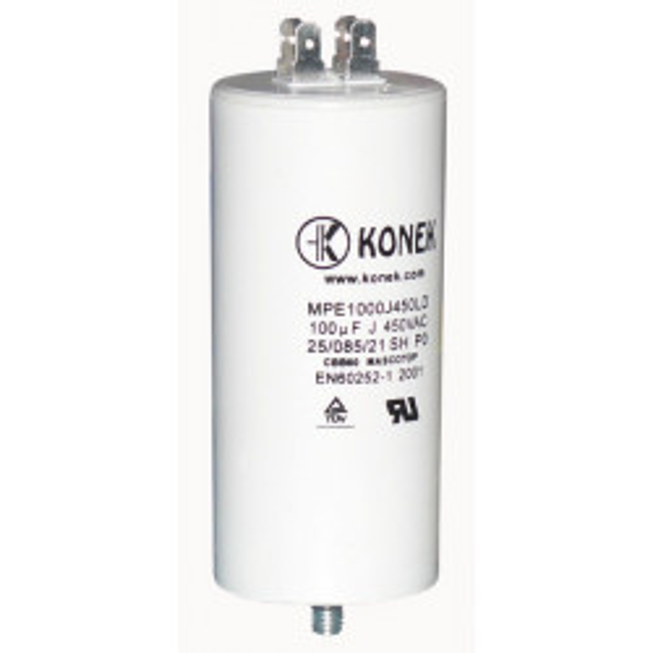 Mf mikrofarad kondensator 100mf w1 11008 450v 50/60 hz motorinbetriebnahme pod wohnung uhr