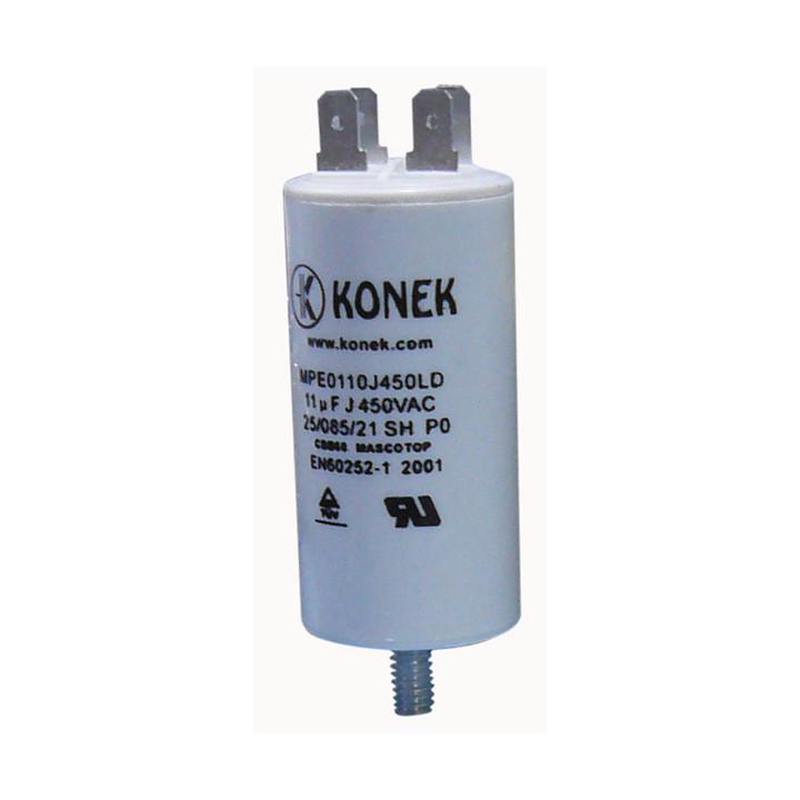 Condensador 11 mf micro farad 450v 50 60 hz condensador de arranque motor universel a borne am w1 11010