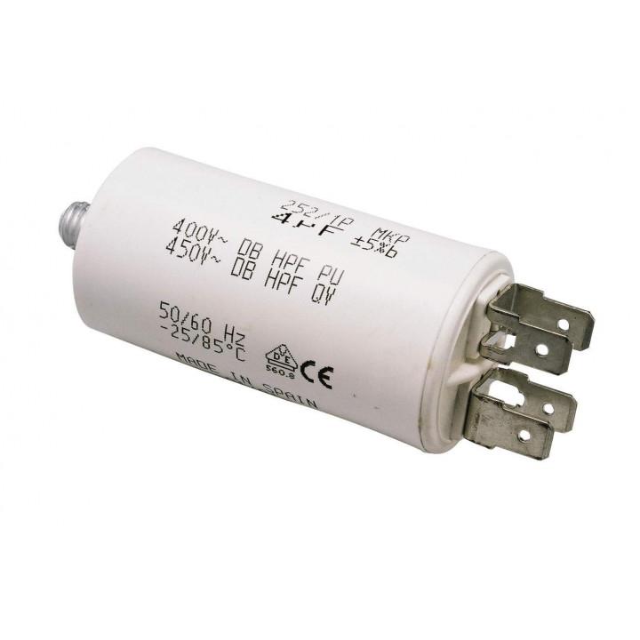 Condensateur 12uf 12.5uf 13µf 14uf 13 mf micro farad 400v 450v 500v moteur double cosse faston 6.3mm