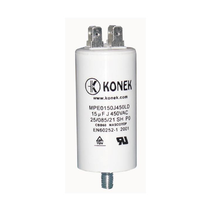 Condensador 15 mf micro farad  uf 450v 50 60 hz condensador de arranque motor universal a borne am w1 11014