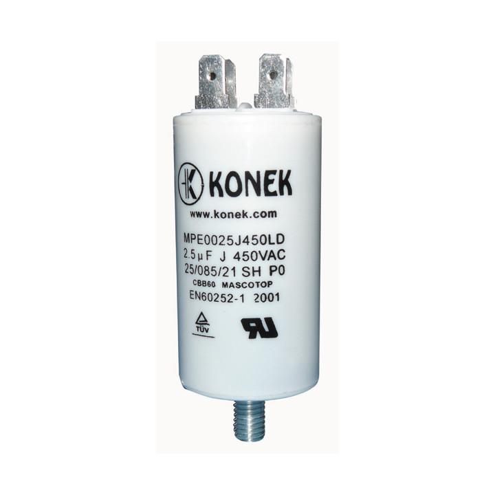 Condensador 2.5 mf micro farad 450v 50 60 hz condensador de arranque motor universal a borne am w1 11012