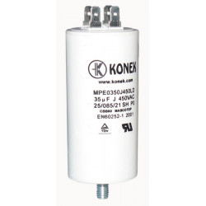 Condensador 35 mf micro farad 450v 50 60 hz condensador de arranque motor universal a borne w1 11030