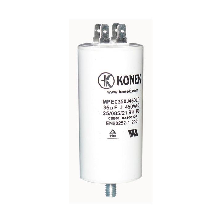 Condensatore 35 mf micro farad 450v 50 60 hz condensatore di avviamento motore universale con capocorda w1 11030