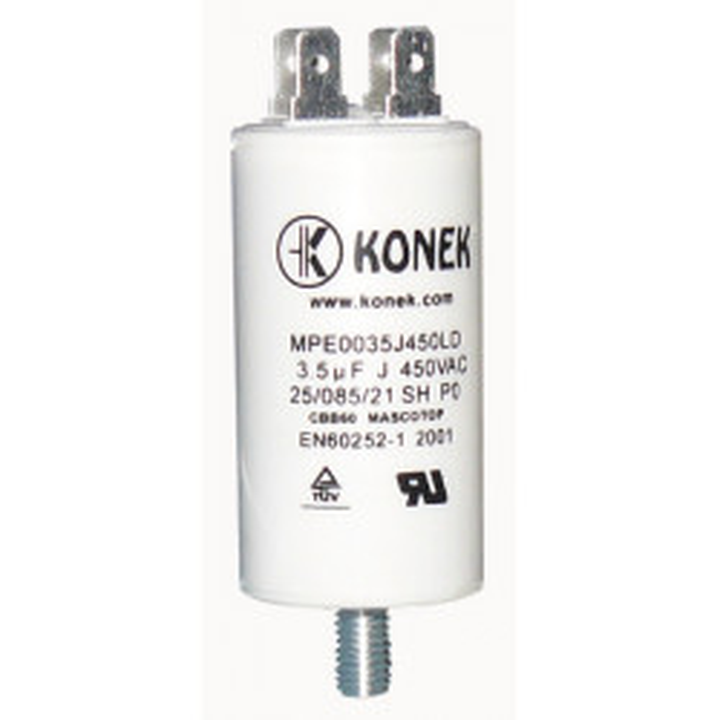 Condensador 3.5 mf micro farad 450v 50 60 hz condensador de arranque motor universal a borne am w1 11004