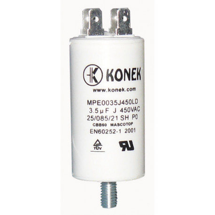 Condenser 3.5 mf micro farad 400v 450v 500v 50 60 hz condenser start universal motor with am terminal w1 11004