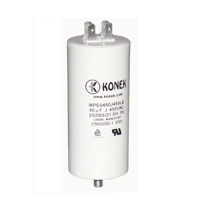 45mf kondensator mf mikrofarad 450v 50/60 hz motorinbetriebnahme wohnung terminal am w1 11.040