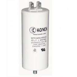 Wire capacitor 45mf micro farad 450v 50 60hz universal motor start capacitor with am terminal w 11040