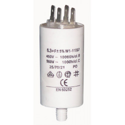 Capacitor 6m 6.3uf / 450 v + earth