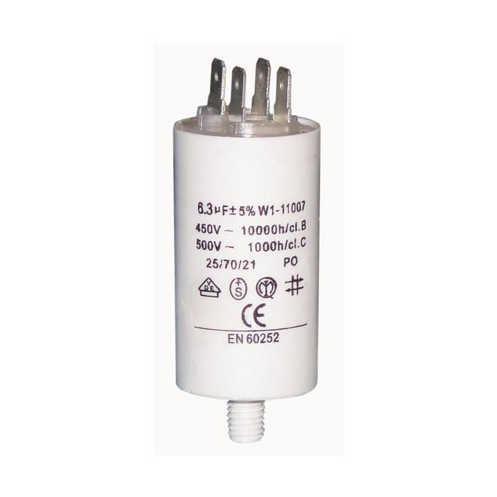 Condensador 6 mf 6.3 micro farad 450v 50 60 hz condensador de arranque motor universal a borne w1 11006