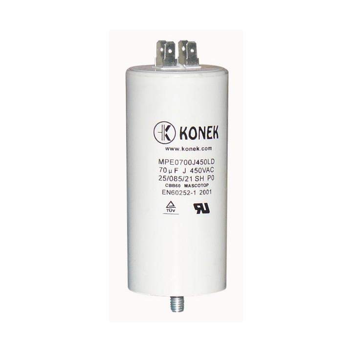 Condensador 70 mf micro farad 450v 50 60 hz condensador de arranque motor universal a borne am w1 11060