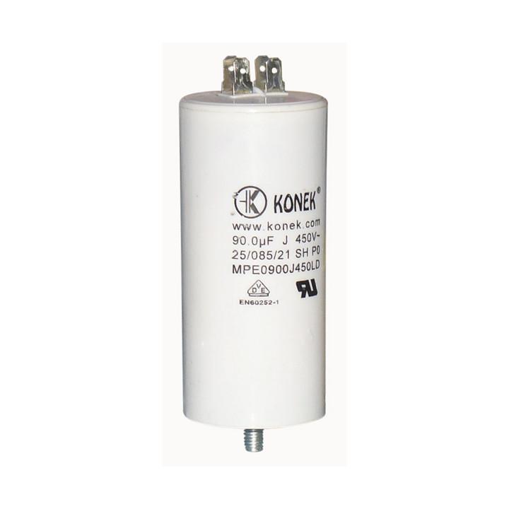 Condensador 90 mf micro farad 450v 50 60 hz condensador de arranque motor universal a borne am w1 11008