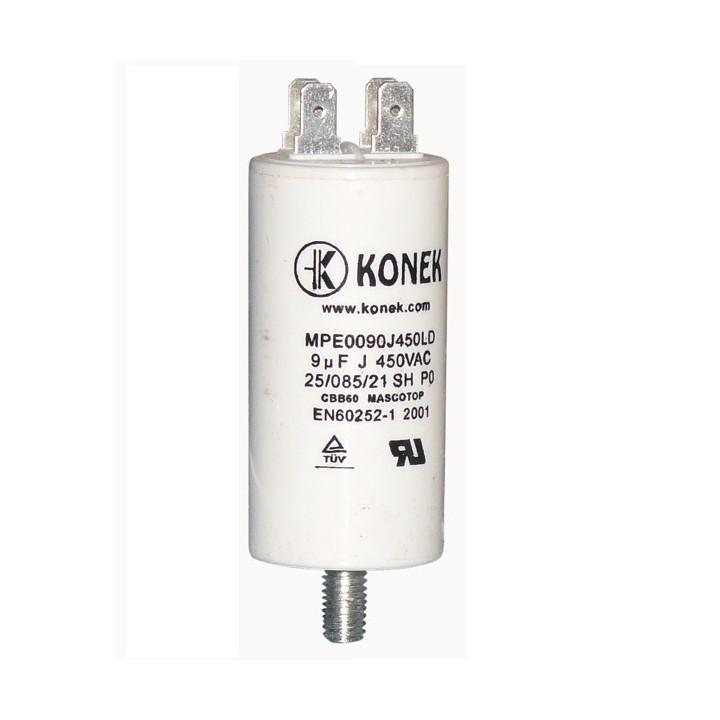 condensateur 9mf 9 mf micro farad 450v condo demarrage moteur double cosse faston 6.3mm 50/60 hz