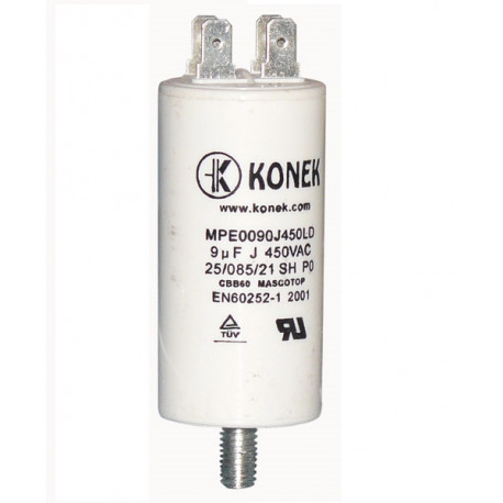 Capacitor 9 mf micro farad 450v 50 60 hz universal motor start capacitor with am terminal w1 11008