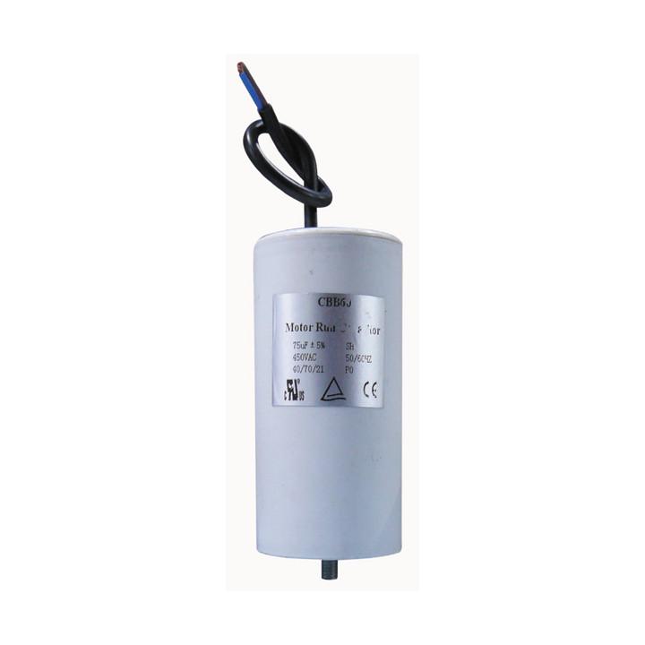 Condensateur 75mf 75 mf micro farad 400v 450v 500v condo demarrage moteur condo à fil