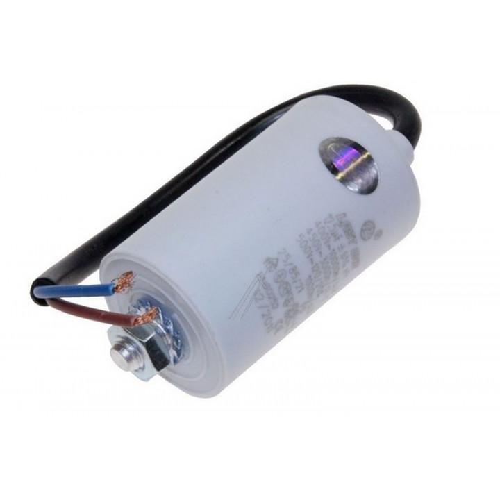 Condensatore elettrico con filo 12.5 mf micro farad 450v cavo con morsetti motore