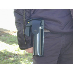 Holster for 300ml aerosol – clip – with flap for self defense spray geltg security defense security defense
