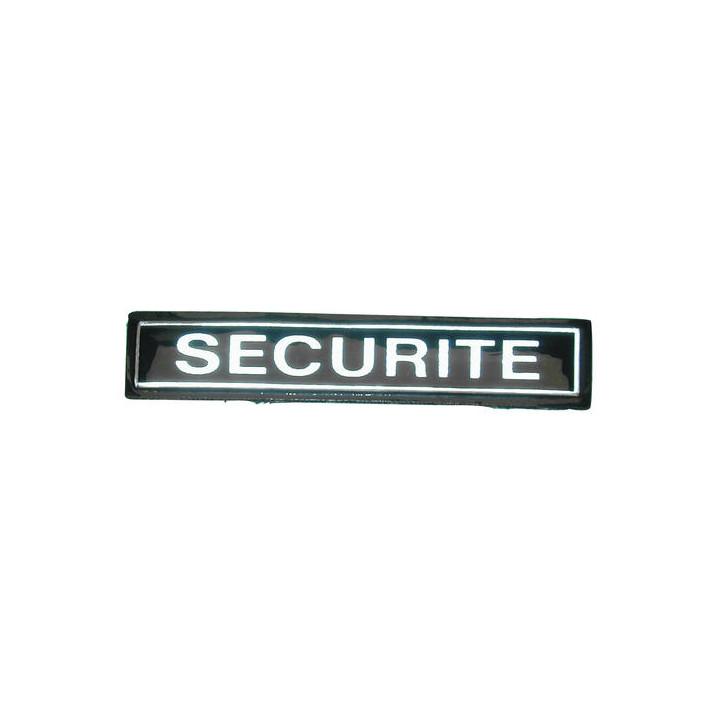 Spange securite retro pvc velcro securite ecusson securite wappen sicherheit sicherheitswappen