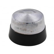 Flash stroboscopique 15 leds transparent blanc 12vcc diam 77mm haa40wn