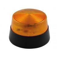 Flash stroboscopique a led ambre 12vcc diam 77mm haa40an