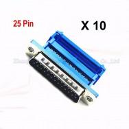 10 x Connecteur male D-SUB DB25 25 broches Port parallèle IDC cable nappe plate