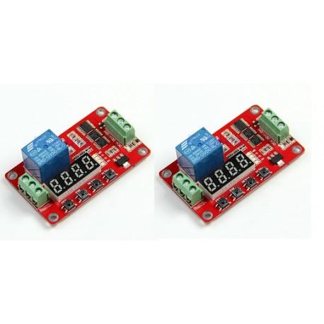 Lot de 2 Relais temporisé retardateur 12v frm01 programmable 1 seconde a 270h