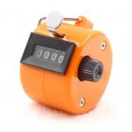 Compteur 4 chiffre orange score comptage manuel a main personne marchandise
