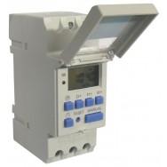 Programmateur hebdomadaire 110v 2200w thc15a rail din horloge electrique minuterie digitale 7 jours